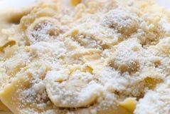Ravioli avec du fromage grec Image stock