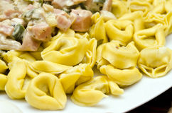 Ravioli in carbonara Royalty Free Stock Photography
