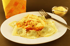 Ravioli with cheese Royalty Free Stock Photos