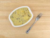 Ravioli in a cheese and mushroom sauce TV dinner Stock Photos