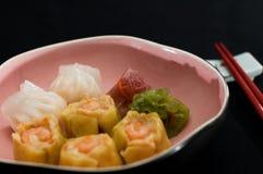 Ravioli cinesi Fotografia Stock