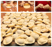 Ravioli - cottura casalinga Fotografie Stock