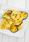 Ravioli di Girasole con la melanzana o la melanzana Fotografia Stock Libera da Diritti