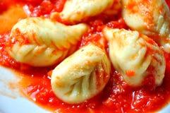 Ravioli, dumplings. Italian pasta  Royalty Free Stock Photography