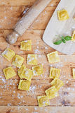 Ravioli in flour Stock Photo