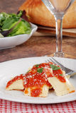 Ravioli with a fork Royalty Free Stock Image