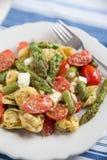 Ravioli with green asparagus Royalty Free Stock Photo