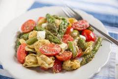 Ravioli with green asparagus Stock Images