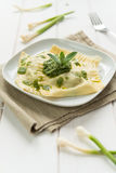 Ravioli with herbs Royalty Free Stock Image