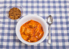 Ravioli with Hot Pepper Flakes Stock Images