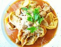 Ravioli, Italiaans voedsel Stock Afbeeldingen