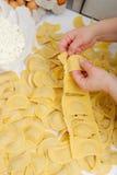 Ravioli making process Stock Image