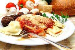 Ravioli And Meatballs Stock Photography