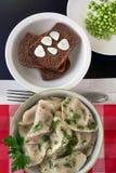 Ravioli med högg av örter och kryddor Arkivfoto