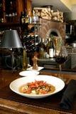 Ravioli met tomaten stock fotografie