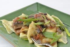 Ravioli & Mushroom Sauce Royalty Free Stock Photos