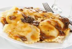 Ravioli with mushroom sauce Royalty Free Stock Photo