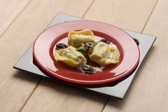 Ravioli with olives Stock Photography