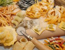 Ravioli and other fresh homemade pasta in Italy Royalty Free Stock Photo
