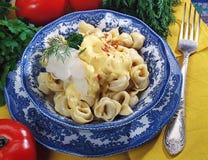 Ravioli ou pelmeni russes Photo stock