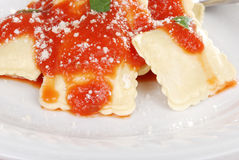 Ravioli with parmesan cheese Stock Photography