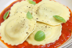 Ravioli Pasta Appetiser Royalty Free Stock Photos