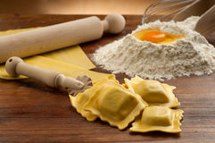 Ravioli pasta homemade Royalty Free Stock Image