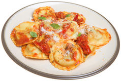 Ravioli Pasta Meal Royalty Free Stock Photo