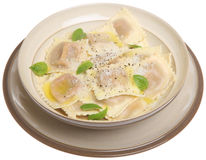 Ravioli Pasta Meal Royalty Free Stock Images
