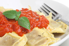 Ravioli Pasta Meal Stock Photo