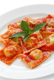 Ravioli pasta with tomato sauce , italian food Royalty Free Stock Image