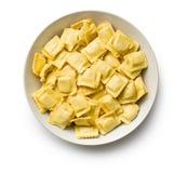 Ravioli pasta. On white background Stock Image