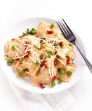 Ravioli with pea Royalty Free Stock Photography