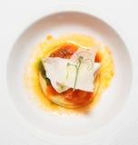 Ravioli in plate Stock Image