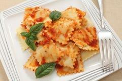 Ravioli pomodoro sauce Stock Photos