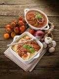 Ravioli with ragout sauce Stock Image