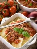 Ravioli with ragout sauce Stock Photos