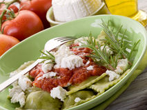 Ravioli  with ricotta Royalty Free Stock Photo