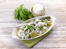 Ravioli  with ricotta and basil Royalty Free Stock Photo