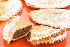 Ravioli with ricotta and chocolate Stock Image