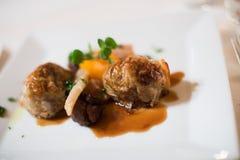 Ravioli in sauce dish Stock Photo