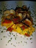 Ravioli with seafood royalty free stock photo