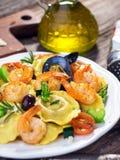 Ravioli with seafood Stock Photos