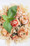 Ravioli with shrimps Stock Photography