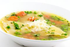 Ravioli soup Stock Photos