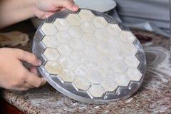 Ravioli sous la forme en métal Photos libres de droits