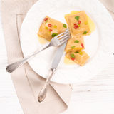 Ravioli with spicy butternut pumpkin filling Royalty Free Stock Images