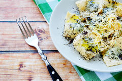 Ravioli with spinach and cheese Stock Image