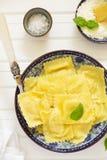 Ravioli stuffed with ricotta Stock Photo