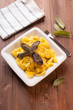 Ravioli stuffed to artichokes with butter and sage Royalty Free Stock Image